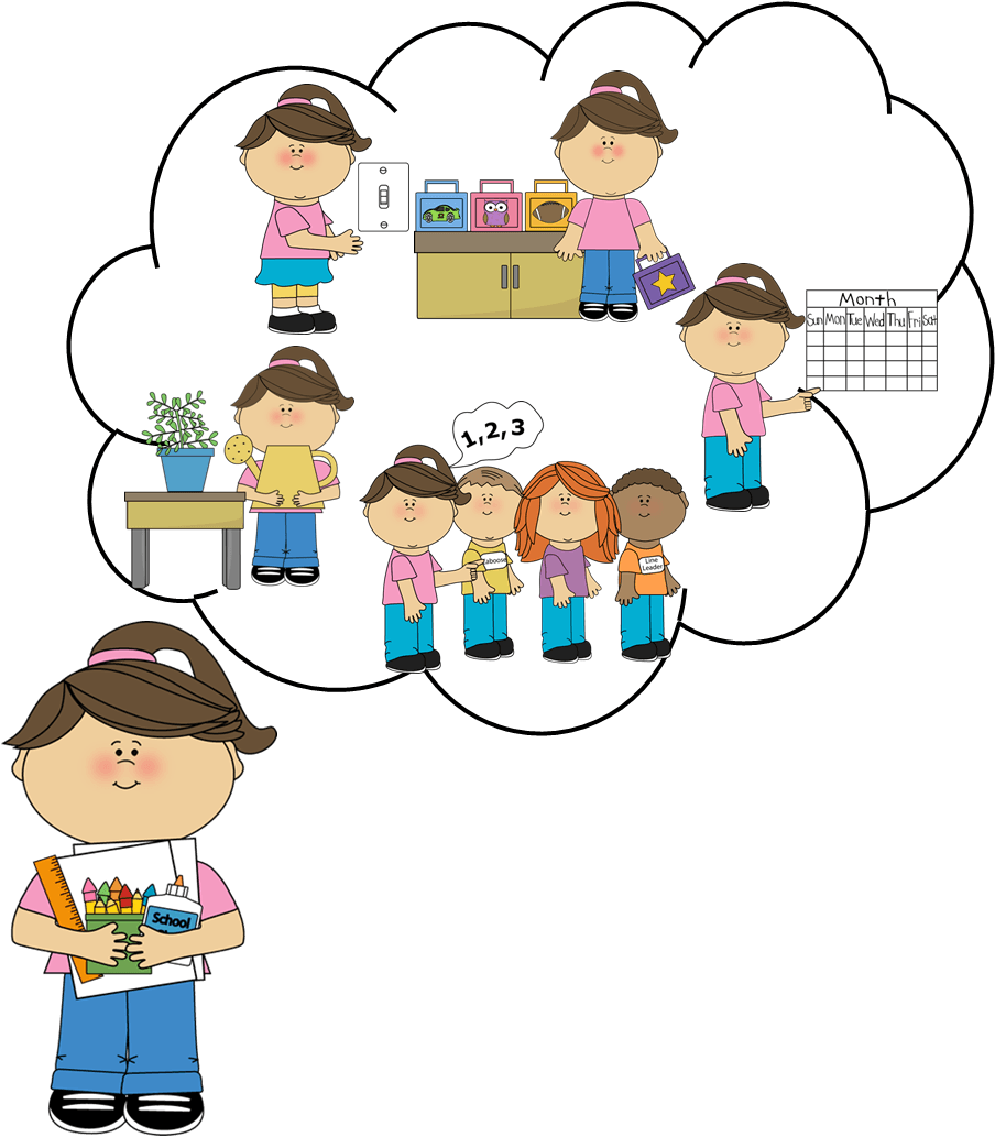 collection of student. Clipart teacher duty