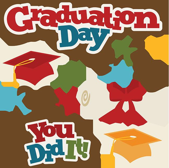 Graduation day svg collection. Scrapbook clipart scrapbook design
