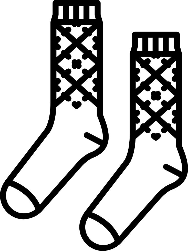Socks drawing at getdrawings. Knee clipart sketch