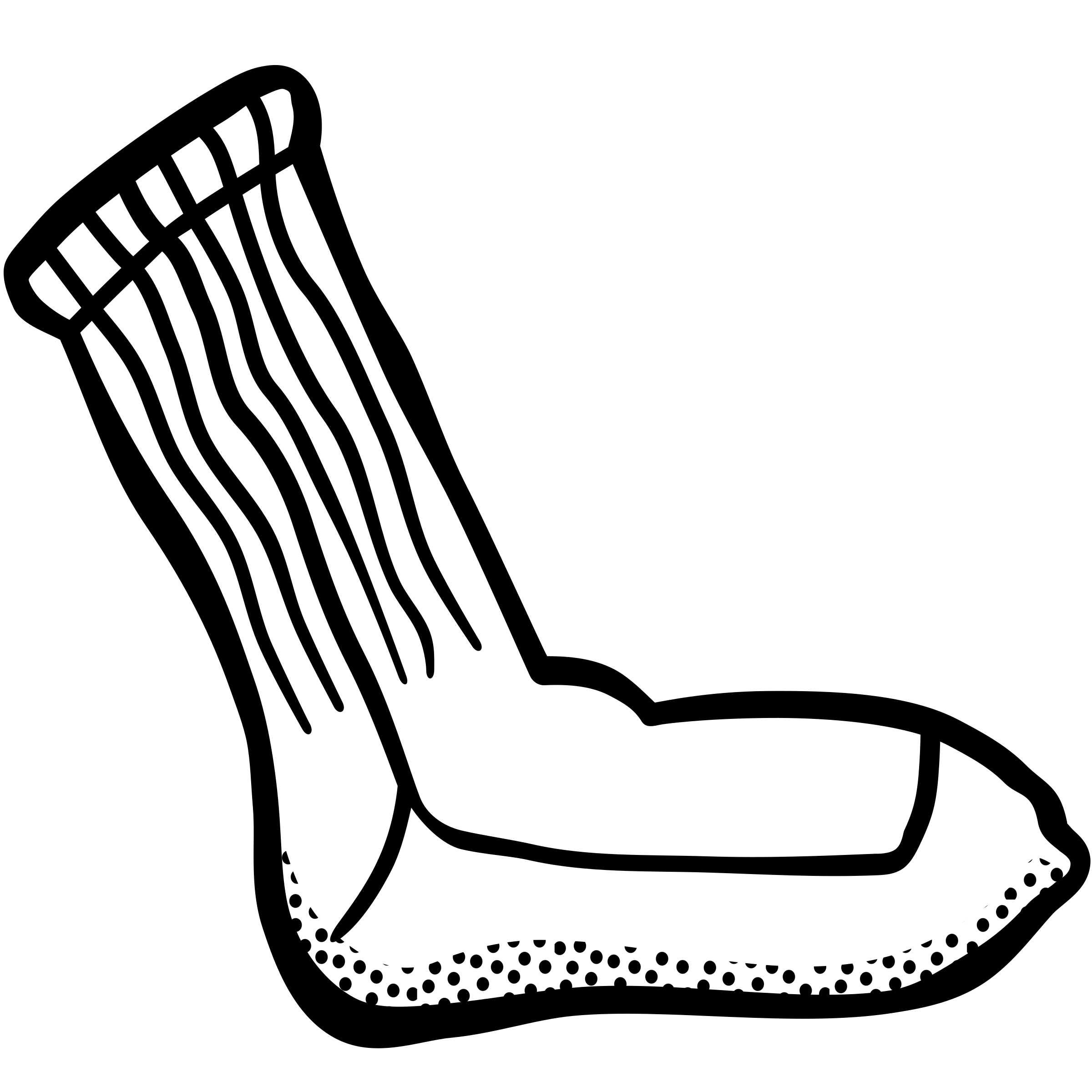 Lineart big image png. Wednesday clipart sock