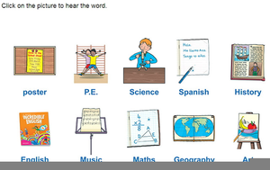 Pictures subjects free images. Clipart school subject