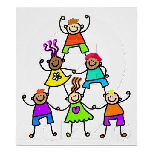 Kids poster zazzle com. Teamwork clipart classroom