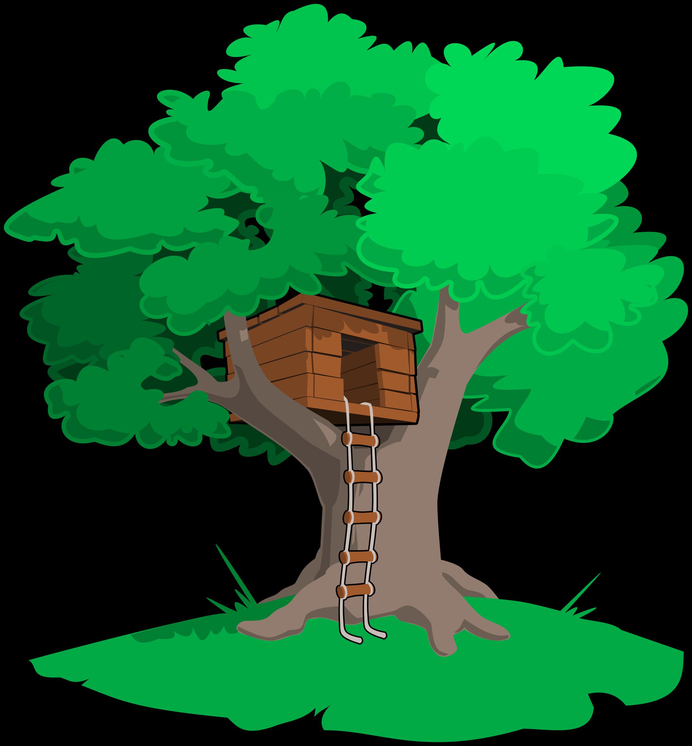 Clipart trees school. Tree house big image