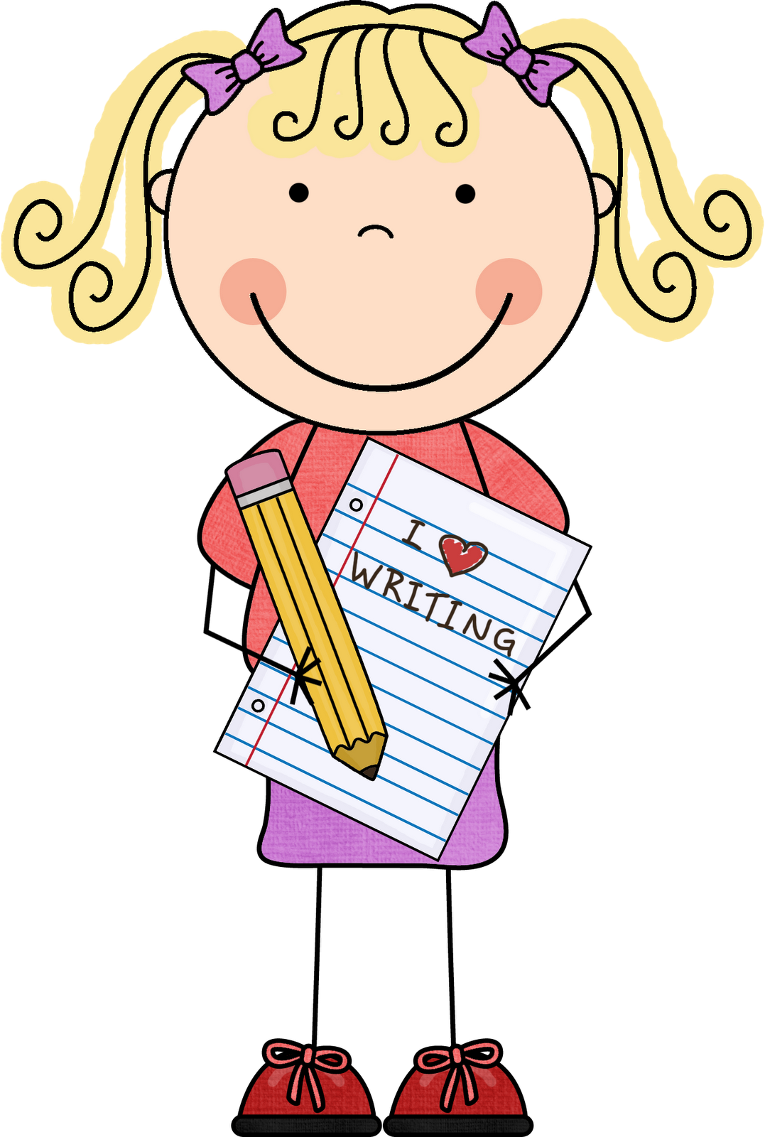 collection of kindergarten. Writer clipart dictation