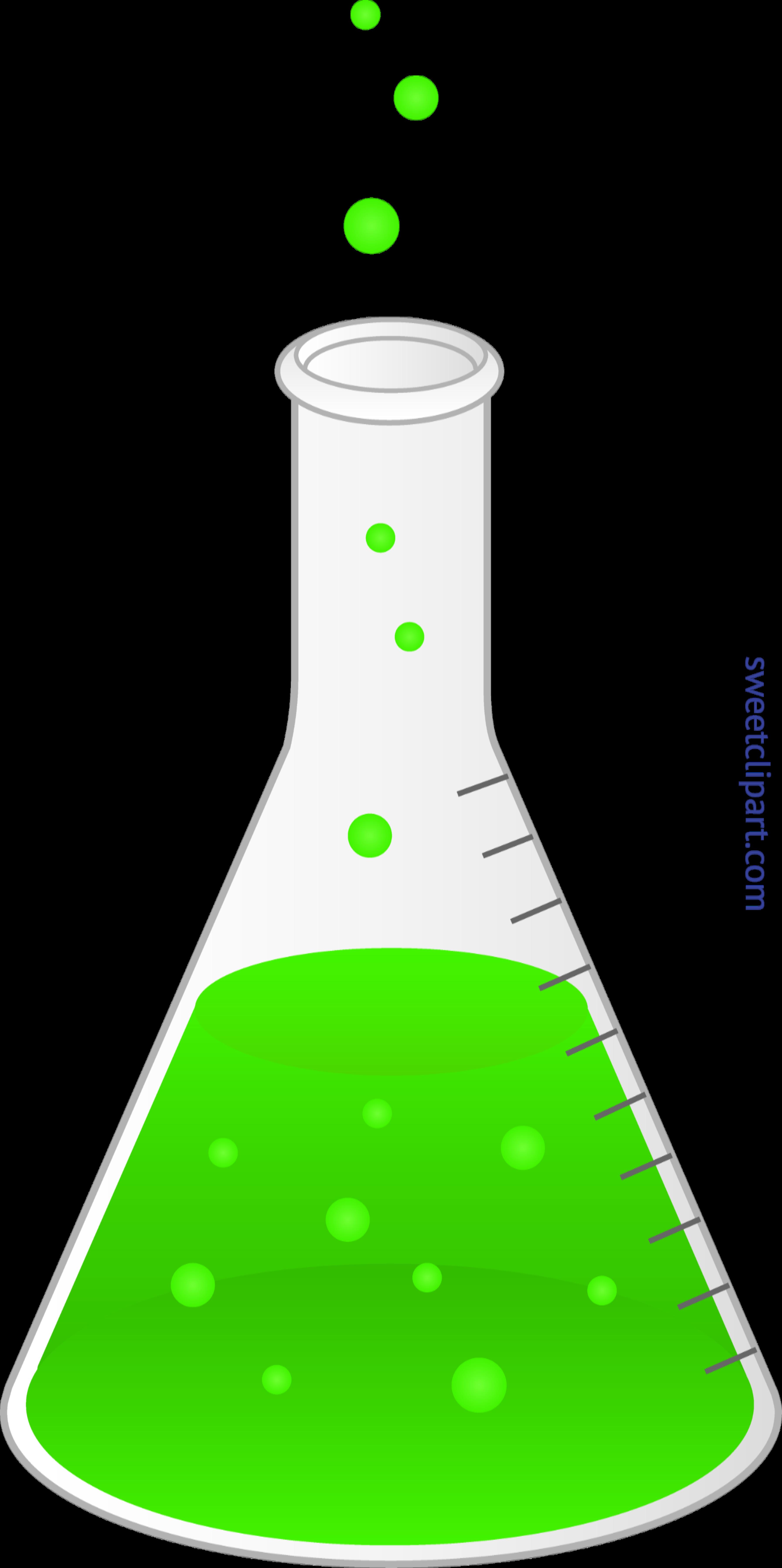 Science flask clip art. Green clipart beaker
