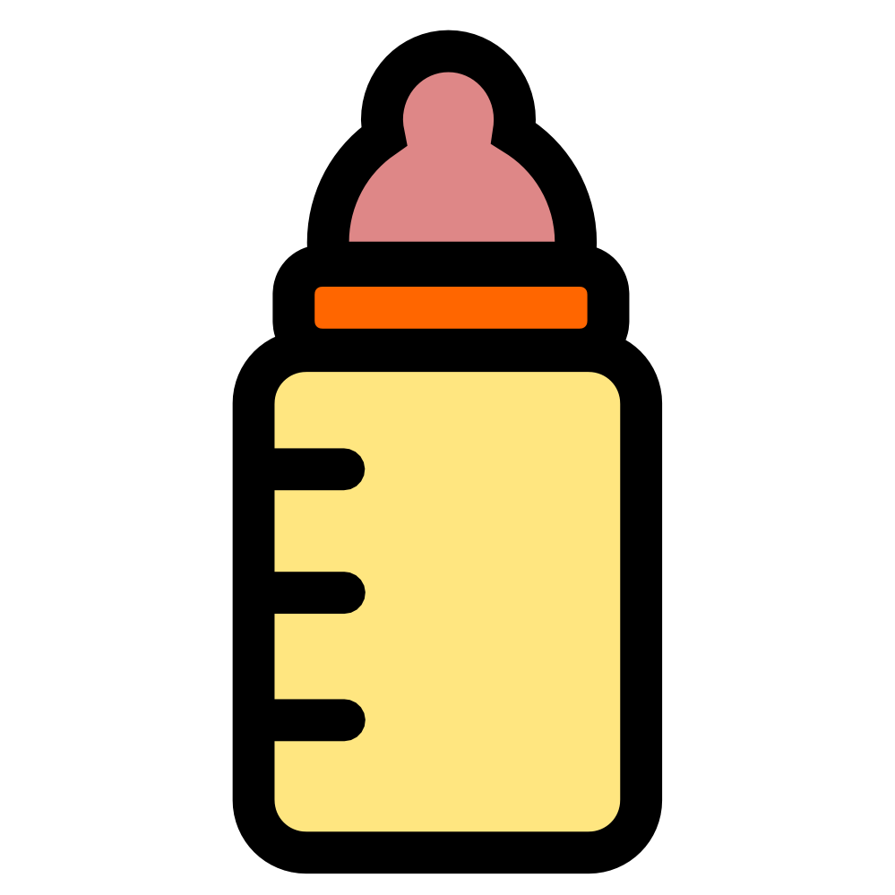 Image of baby clip. Clipart science bottle