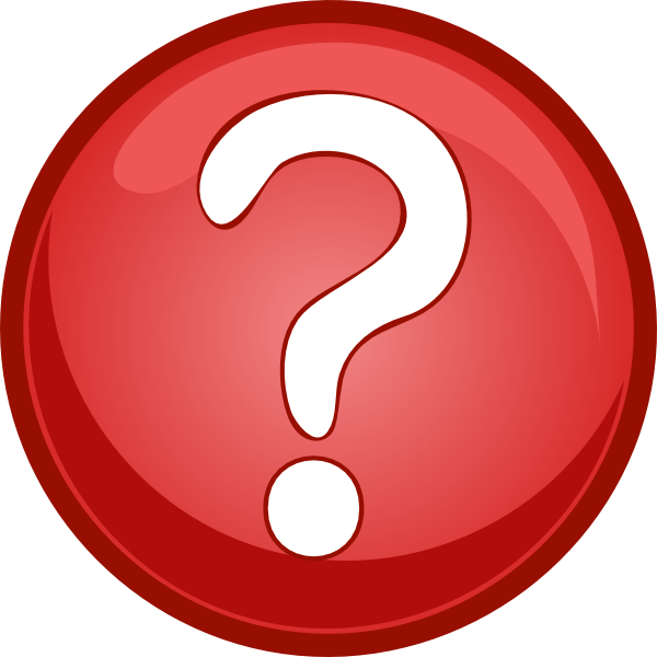 Red mark circle clip. Head clipart question