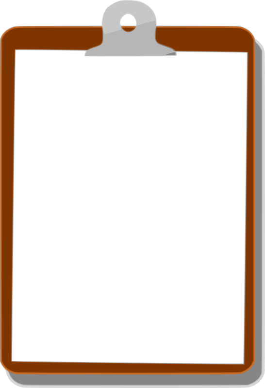 Background clipboard by revans. Document clipart vector