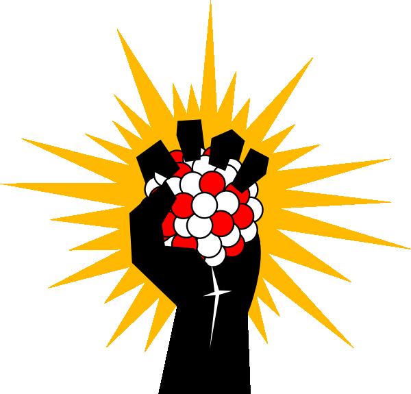 Energy clipart atom. Nuclear hand clip art