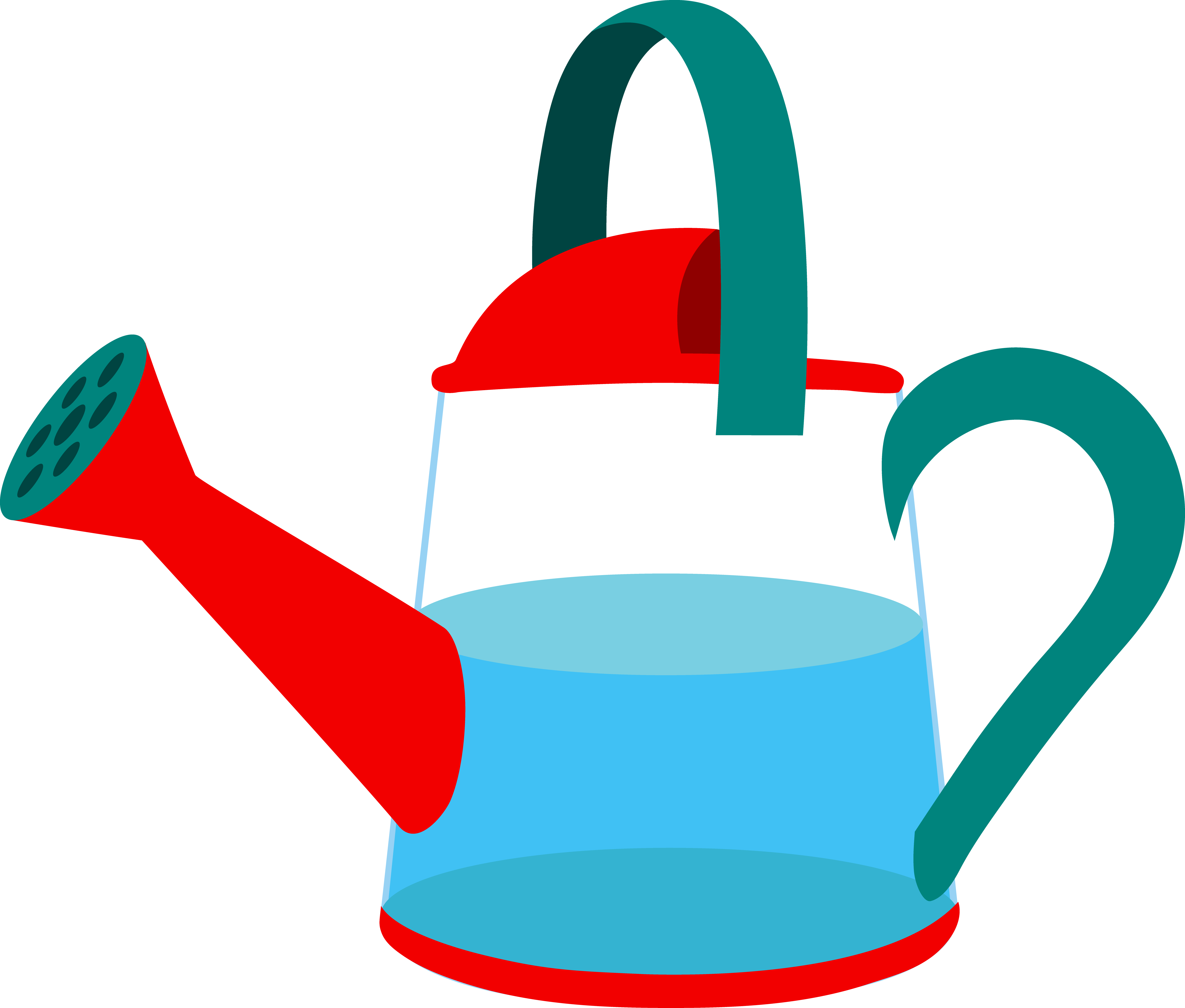 Garden clipart horticulture. Half full watering can