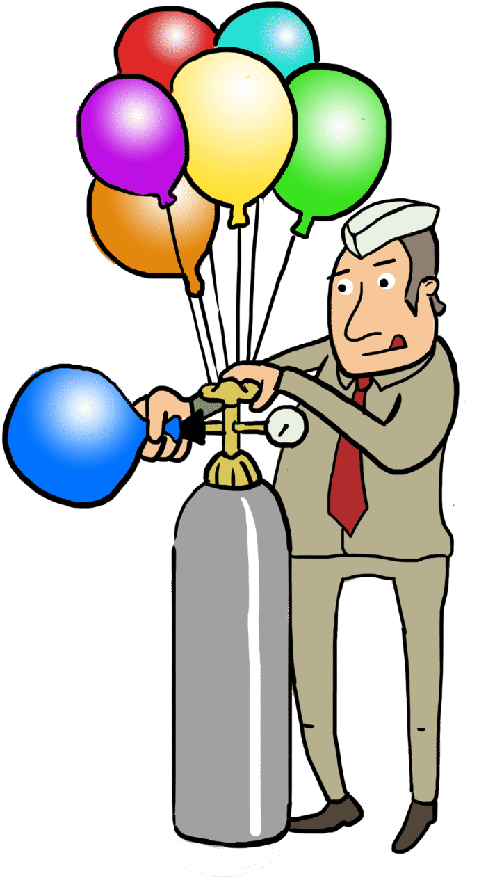 Physical definition of helium. Gas clipart science