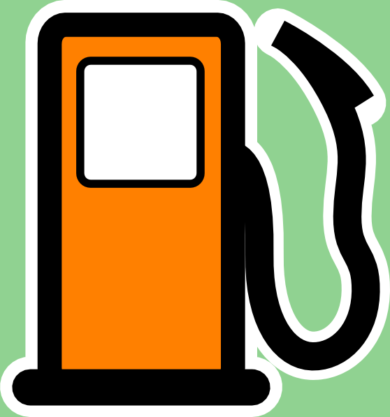 gas clipart in car