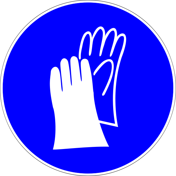 Laboratory safety signs pinterest. Glove clipart science