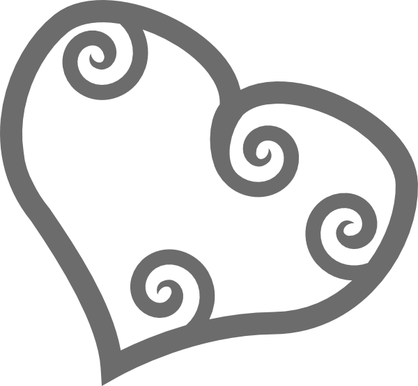 Single scrollwork clip art. Clipart science heart