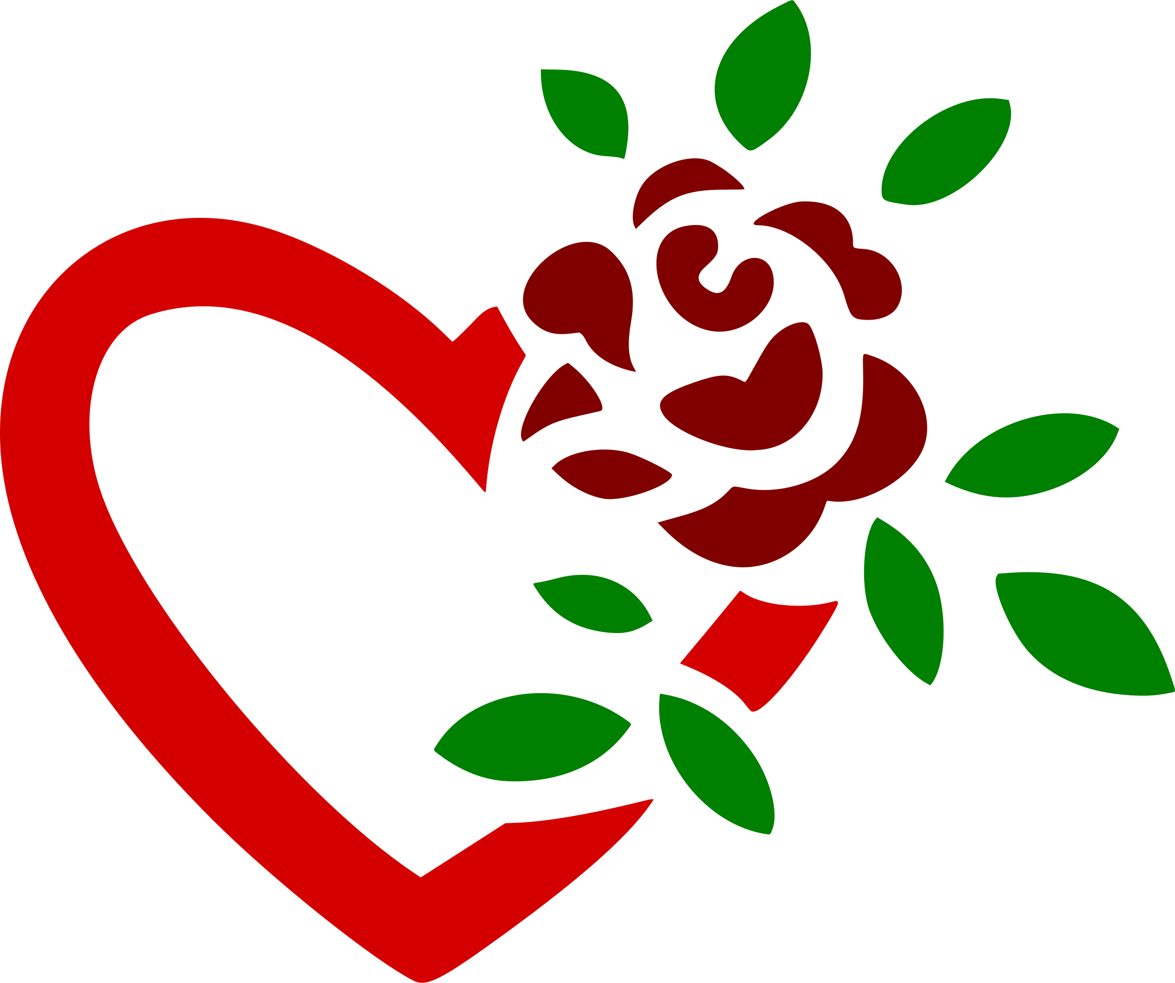 Clipart science heart. Rose and colour icons