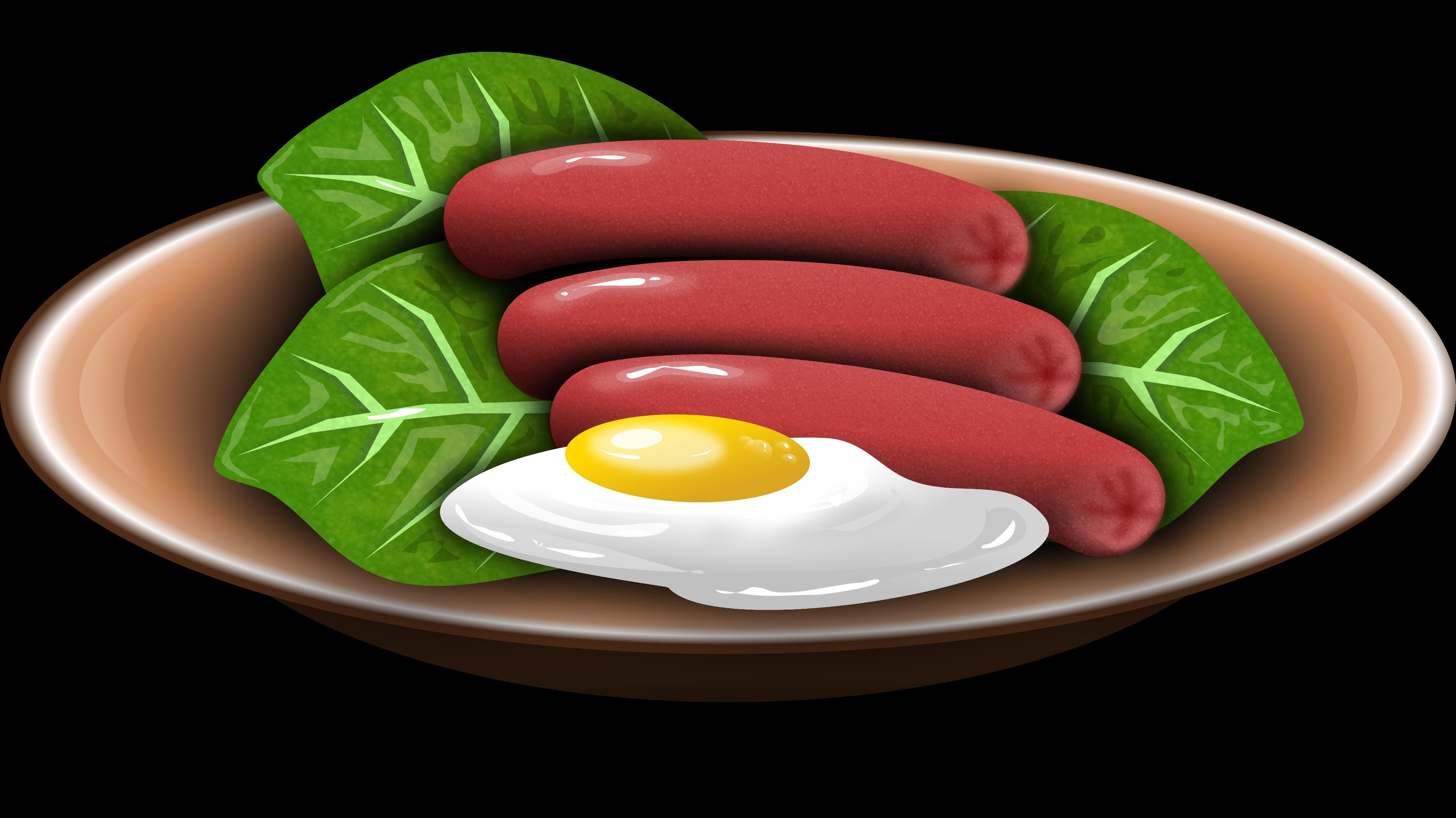 Hotdog clipart simple food. Hotdogs and fried egg