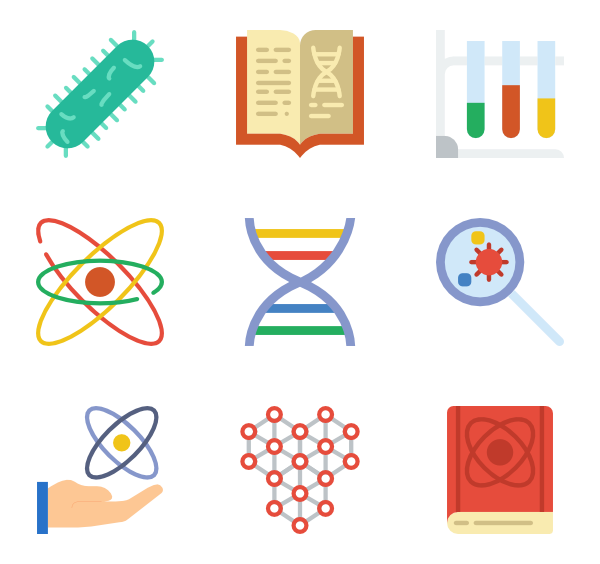 physical packs vector. Clipart science icon