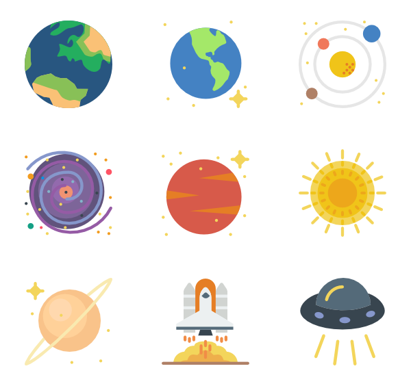 planeten clipart colorful