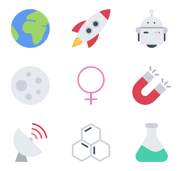 Clipart science icon.  physical packs vector