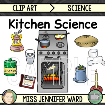 Physical and chemical changes. Clipart science kitchen