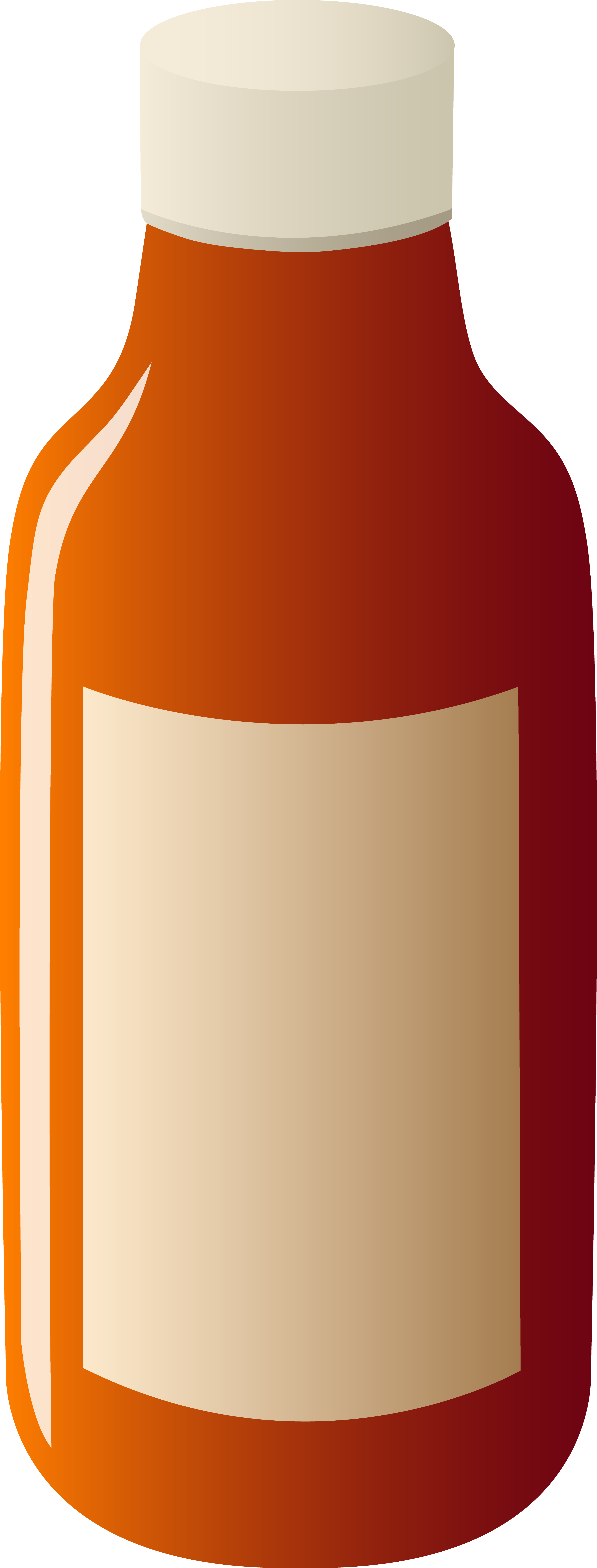Label clipart lable. Bottle with blank free