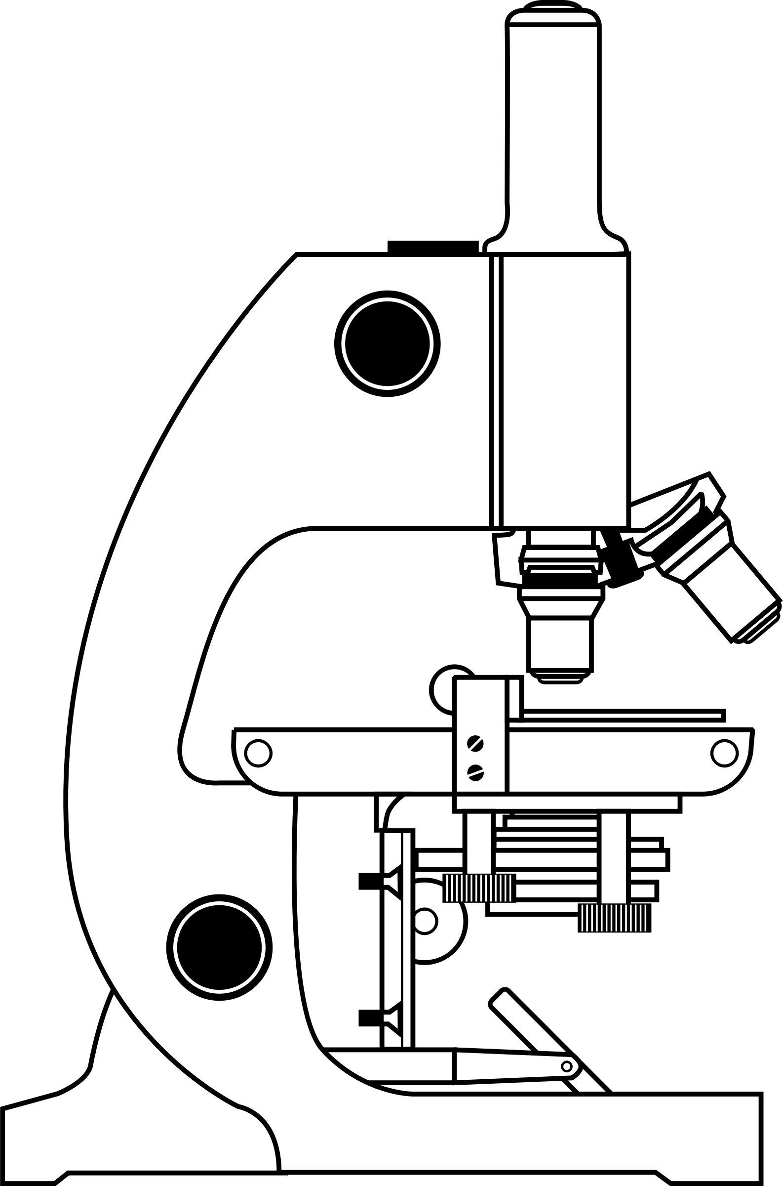 With labels big image. White clipart microscope