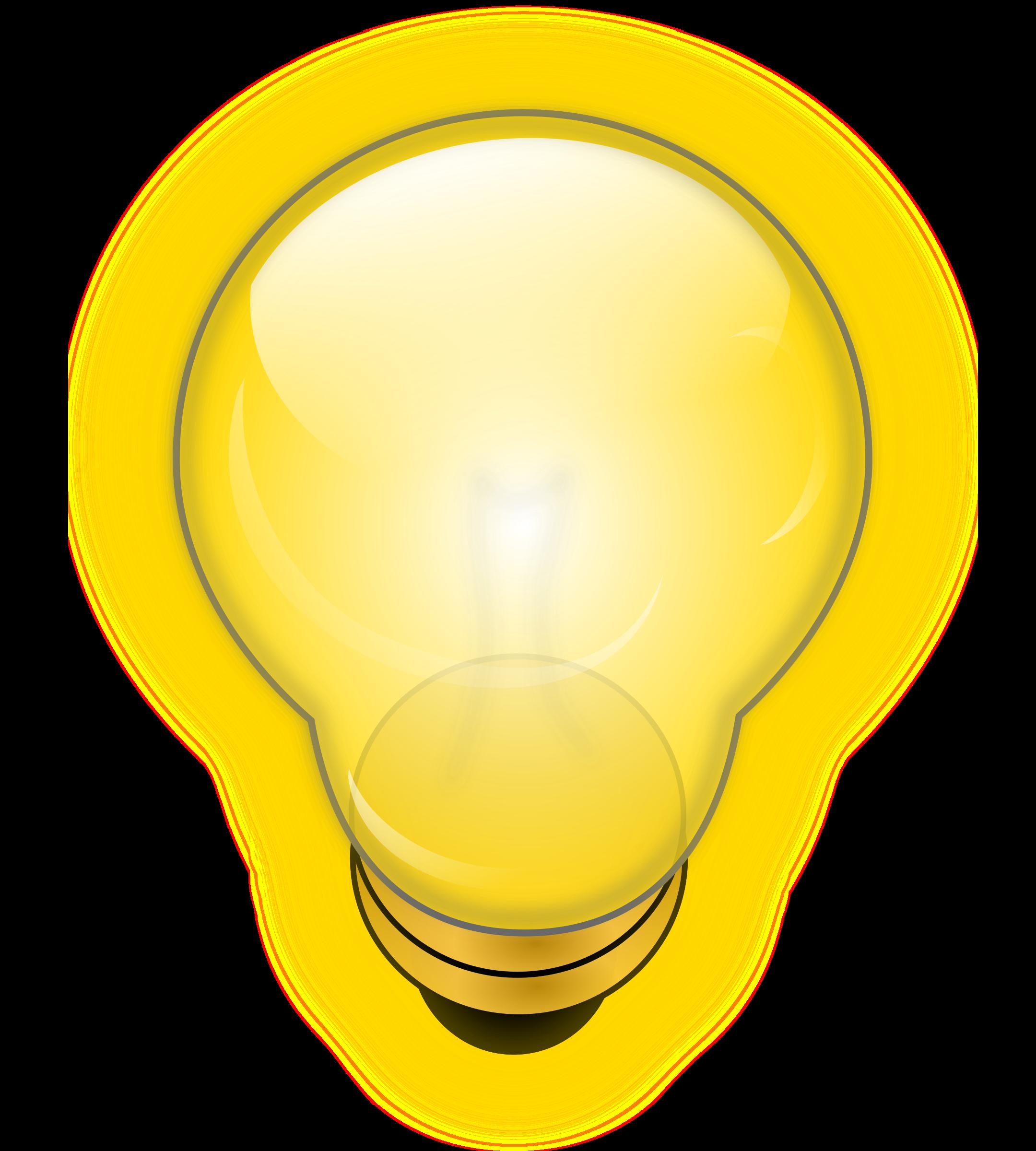 Lamp clipart light globe. Glowing bulb big image