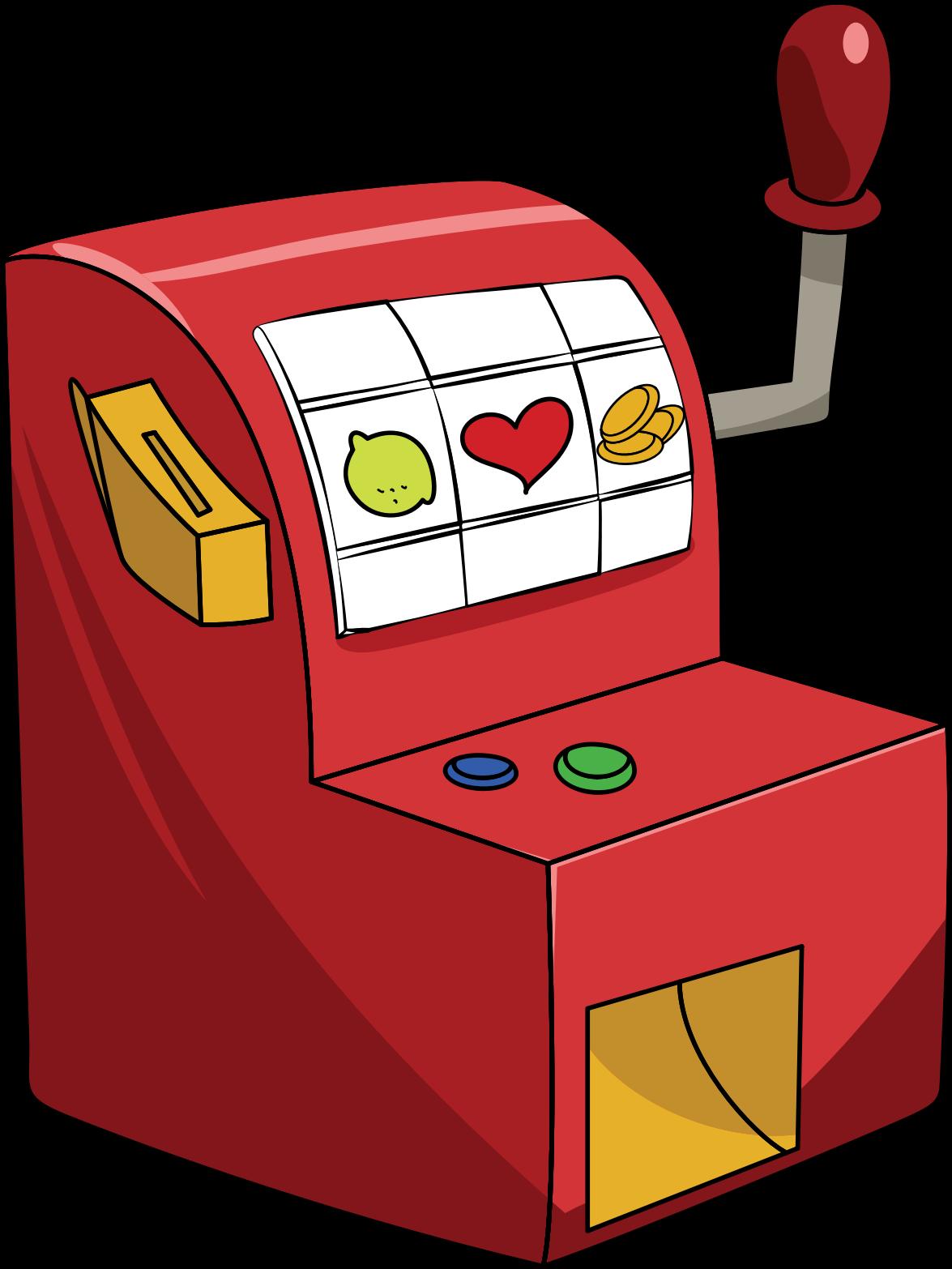 Little red slot machine. Holidays clipart casino