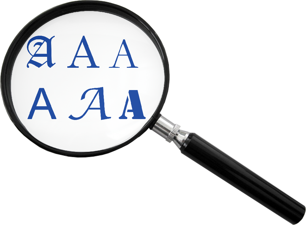 Three lenses on data. Scientist clipart magnifying glass