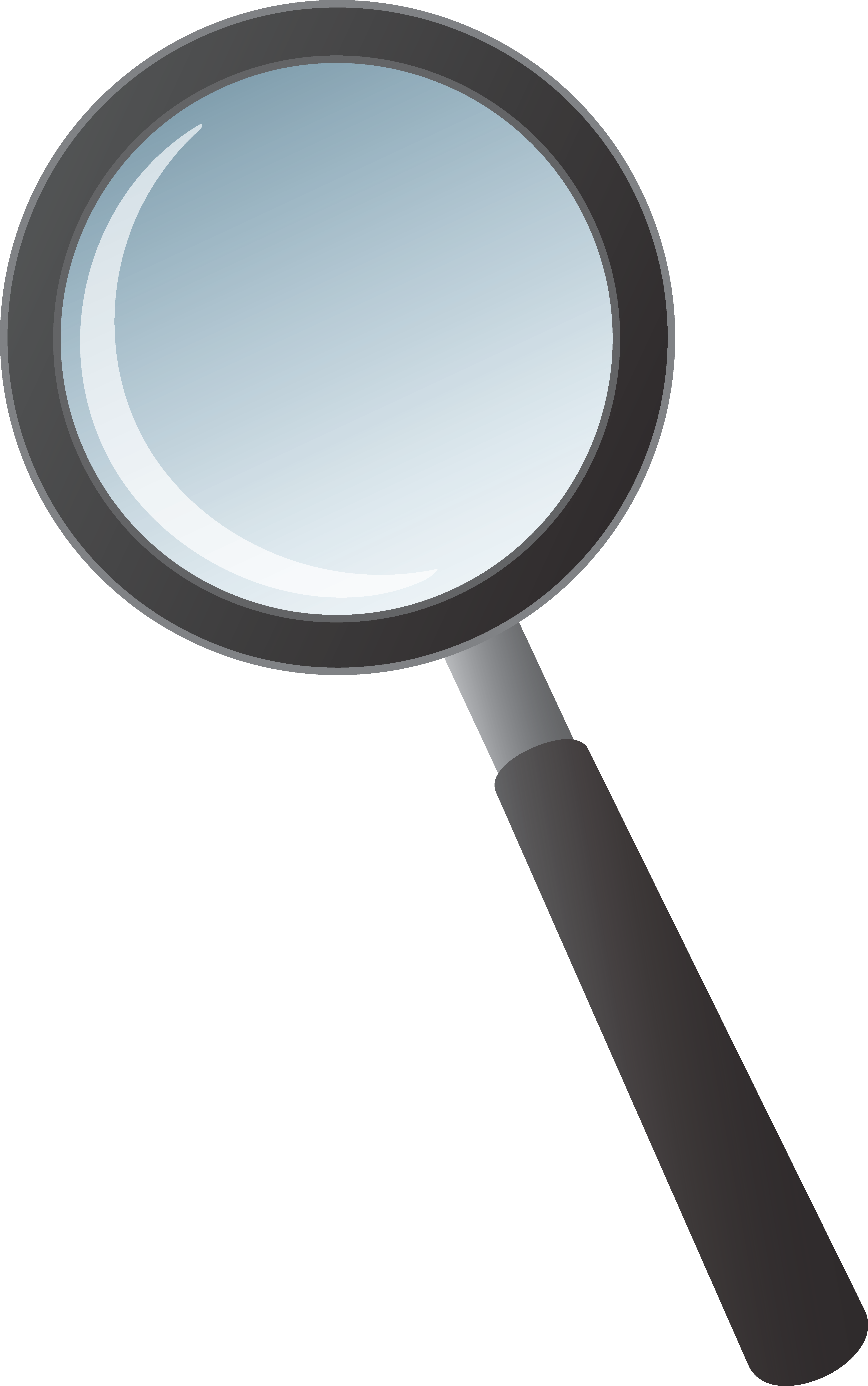 Magnifying glass clip art. Mirror clipart free vector