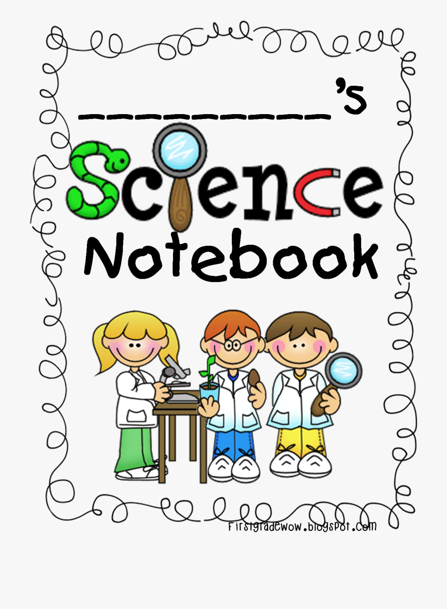 Notebook clipart scince. Student science cover for