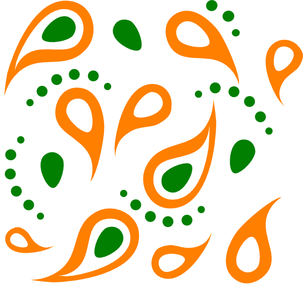 Pattern clip art at. Paisley clipart outline