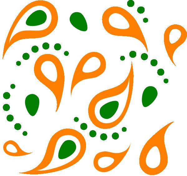 Design clipart orange. Paisley pattern clip art