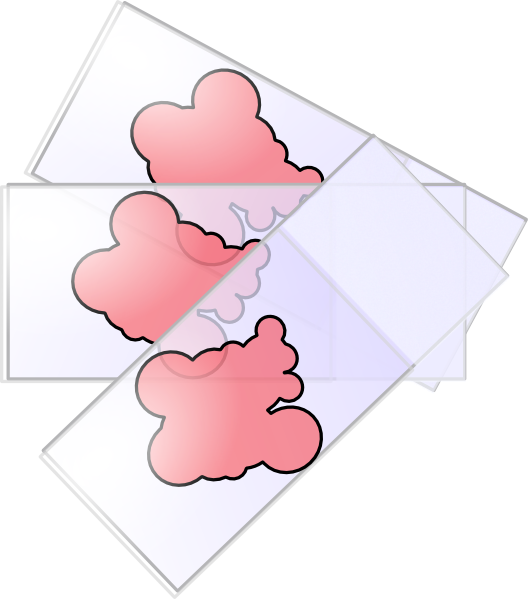 Cover slipped slides clip. Pink clipart science