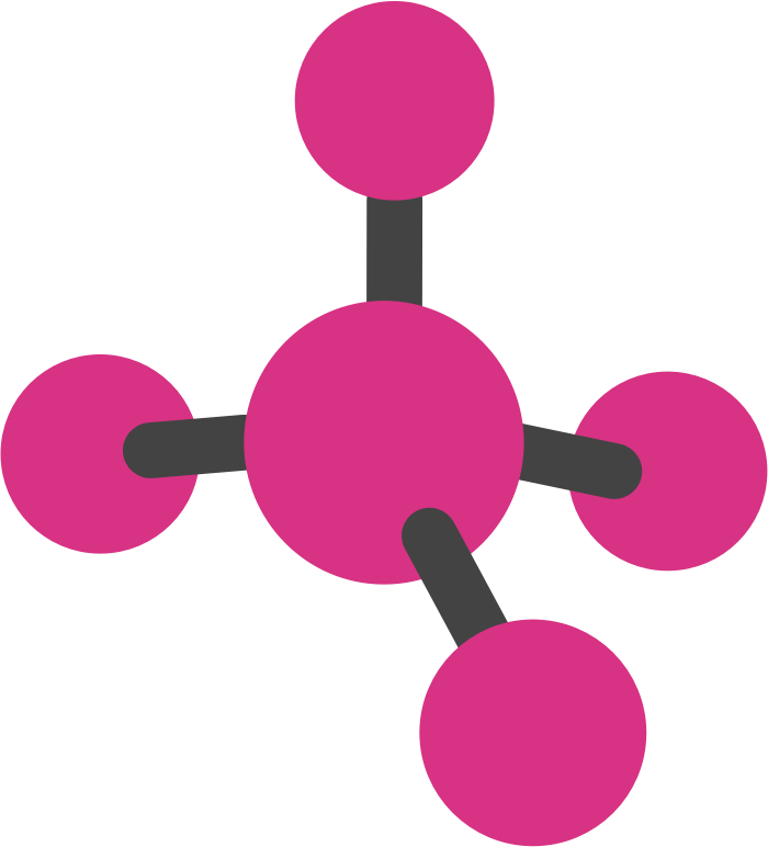 All sorts of molecule. Pink clipart science
