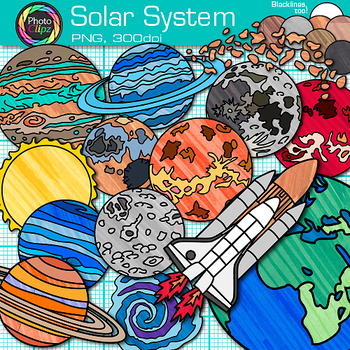 Planets clipart science. Solar system clip art