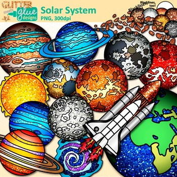 Solar system clip art. Planets clipart science