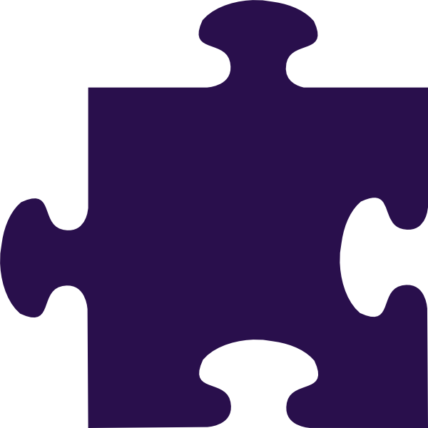 Piece clip art at. Puzzle clipart purple