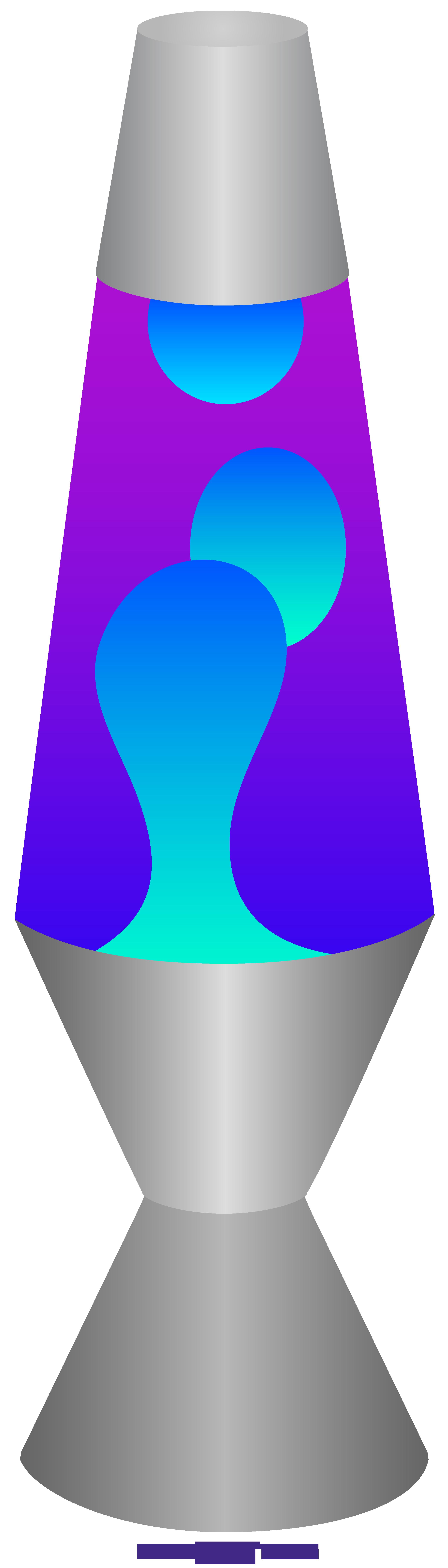 Blue purple sweet clip. Lamp clipart lava lamp
