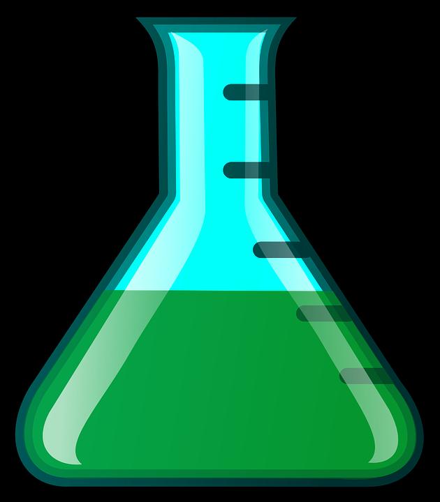 Jar clipart lab. Flask erlenmeyer green science