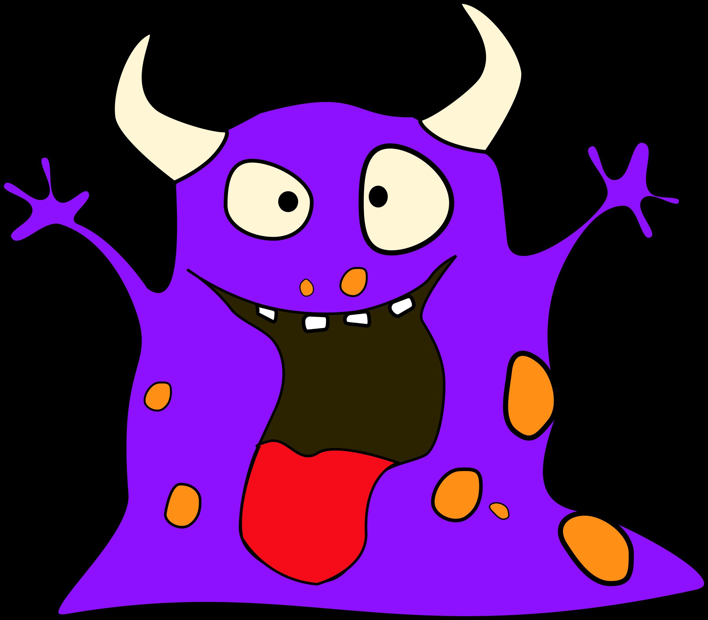 Monster purple monster