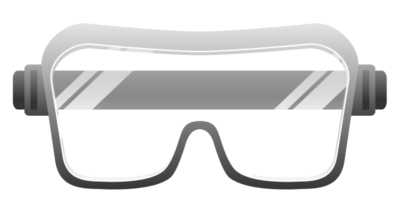 collection of safety. Glove clipart goggles
