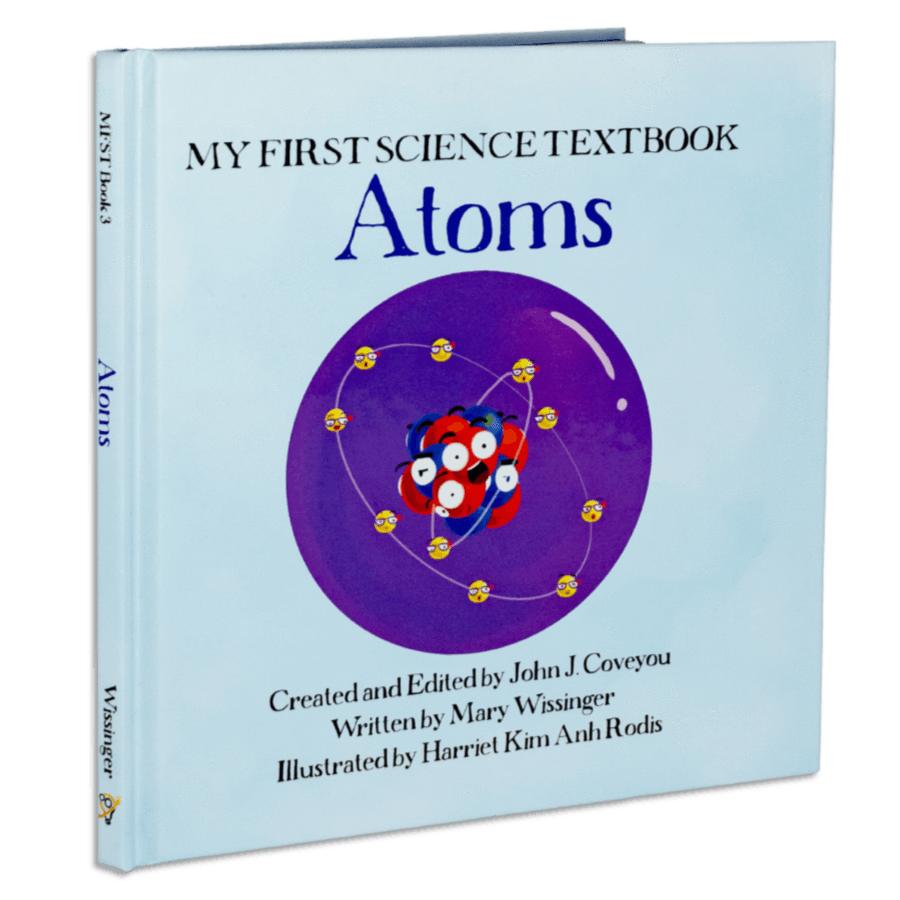 Atoms science my first. Textbook clipart biology book