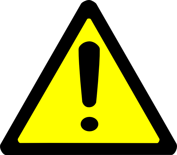 Electrical clipart warning. Sign clip art at