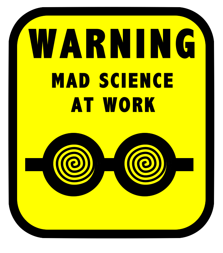 Mad science by thescifiartisan. Writer clipart work sign