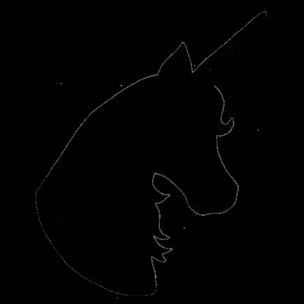 Unicorn head wave hatenylo. Waves clipart silhouette