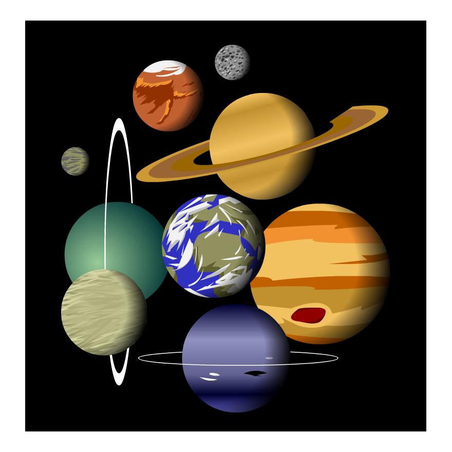 Build a system gameup. Galaxy clipart solar sytem
