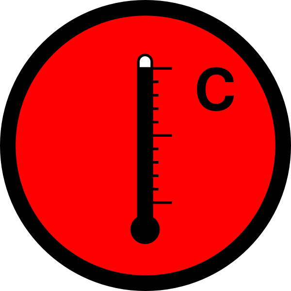 Thermometer hot clip art. Heat clipart temperture