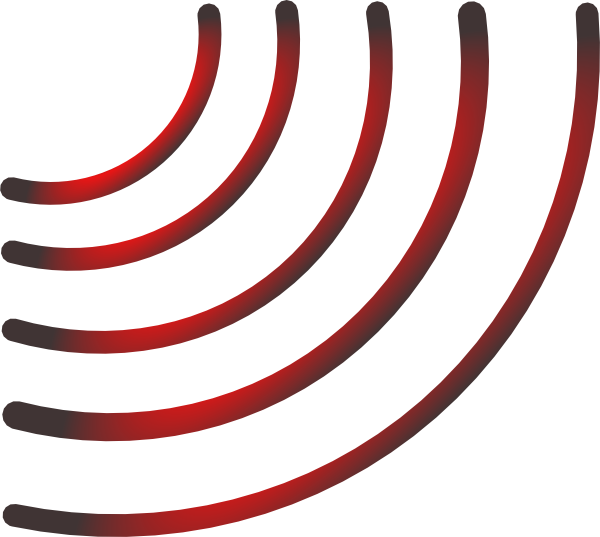 Radio black and red. Waves clipart symbol