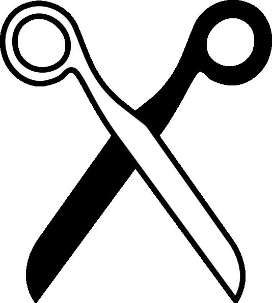 Scissors black and white